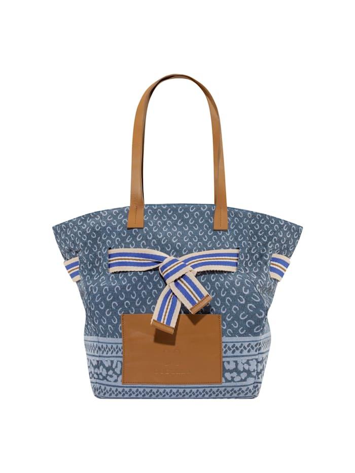 codello - Canvas-Shopper mit Logo-Print  light blue