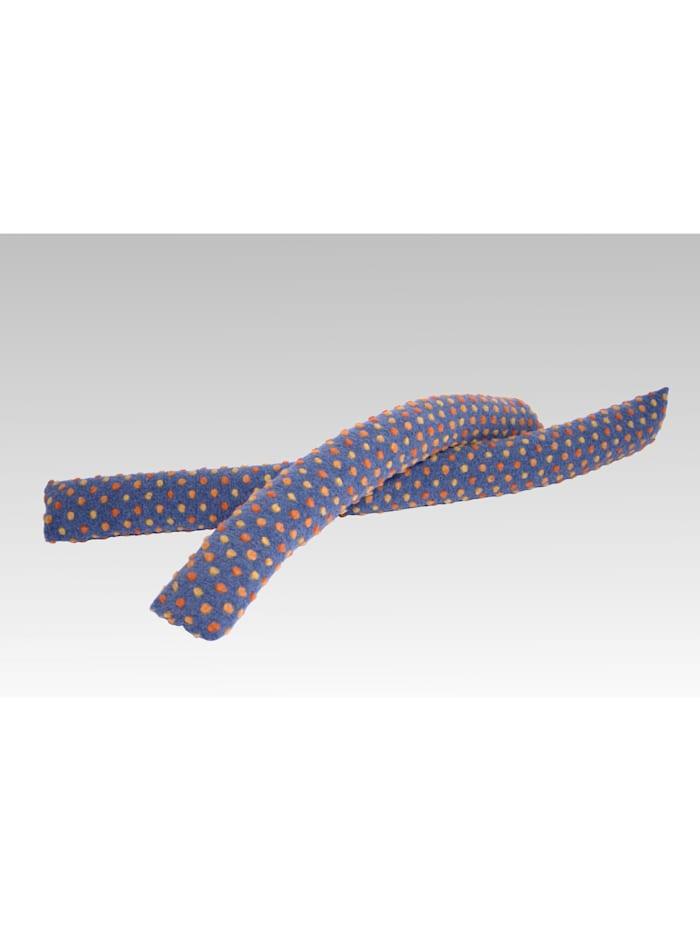 Zugluftstopper Zugluftrolle Wolle Noppen blau 120 cm Linke Licardo blau