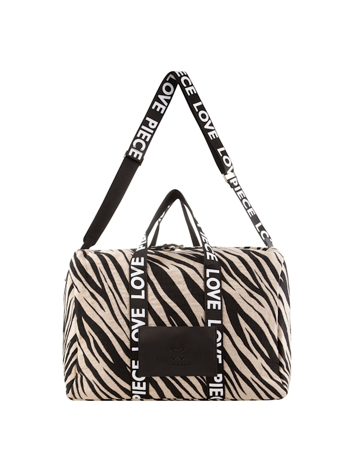 codello - Tiger-Weekender aus Canvas  black