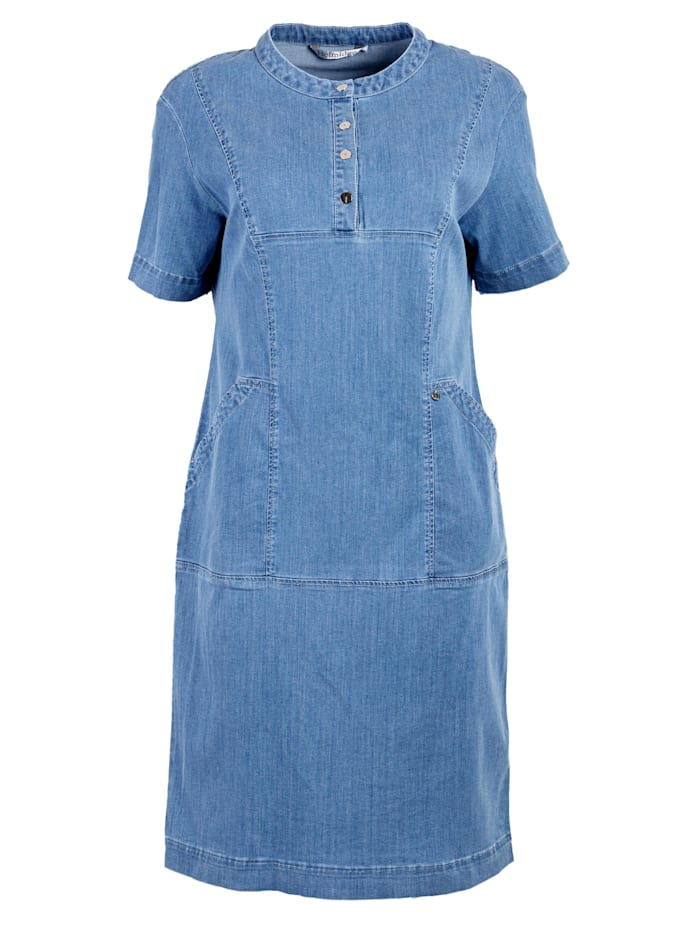 helmidge - Jeanskleid Denimkleid  blau