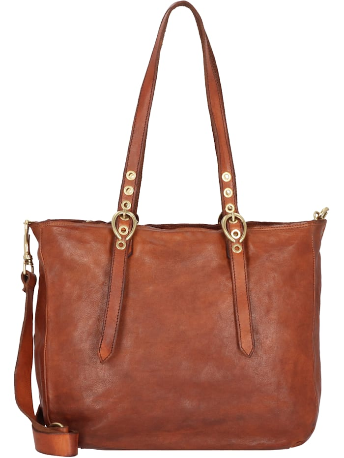 campomaggi - Shopper Tasche Leder 34 cm  cognac