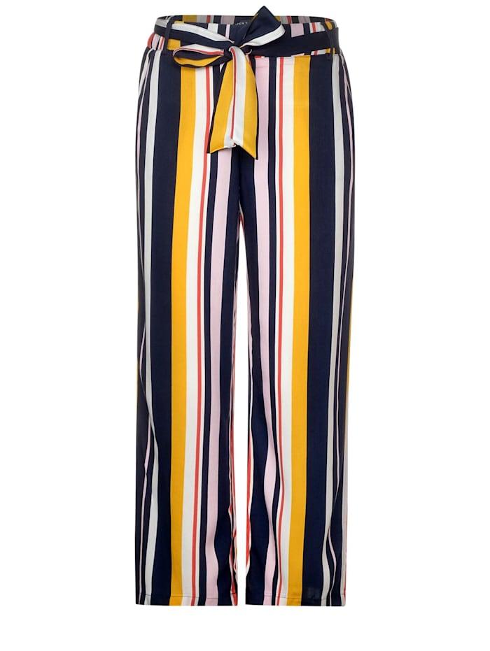 cecil - Gestreifte Wide Leg Hose  deep blue