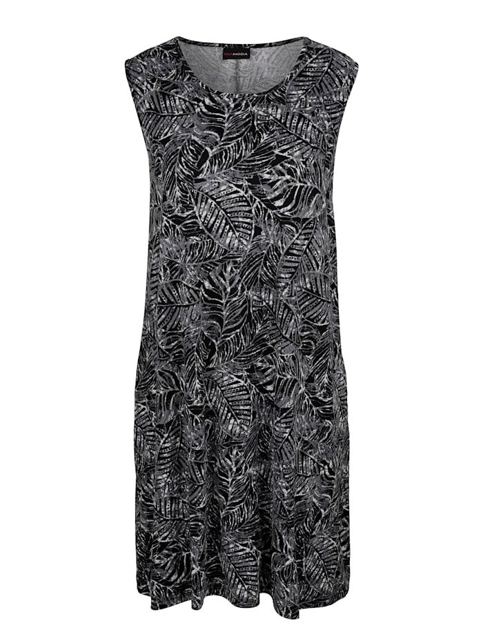 miamoda - Kleid  Schwarz::Weiß