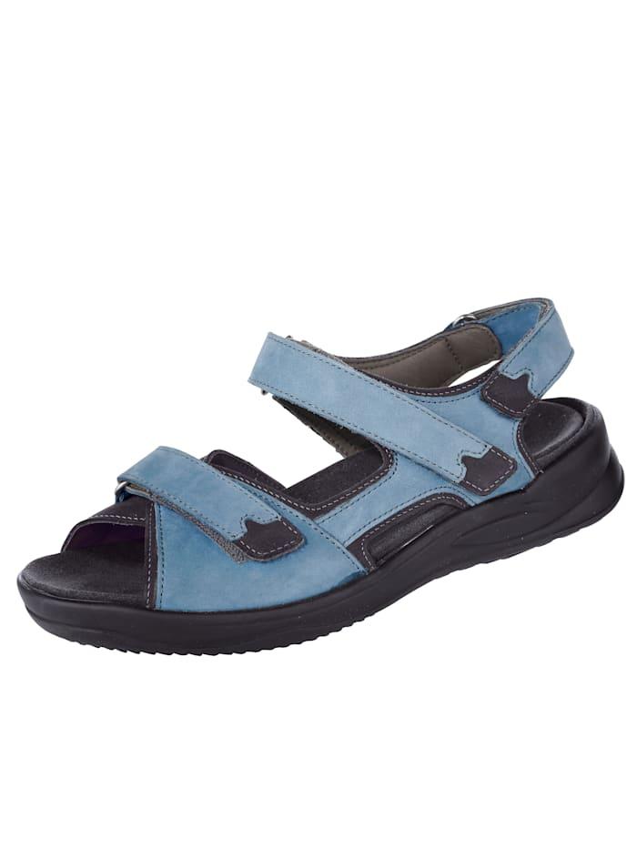 Sandaal Strober Blauw::Zwart