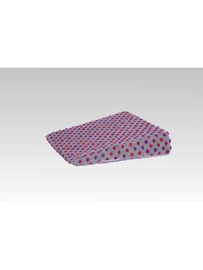 Aufstehhilfe Keilkissen Auto Wolle Noppen 40 x 40 x 8/1 cm Linke Licardo silber