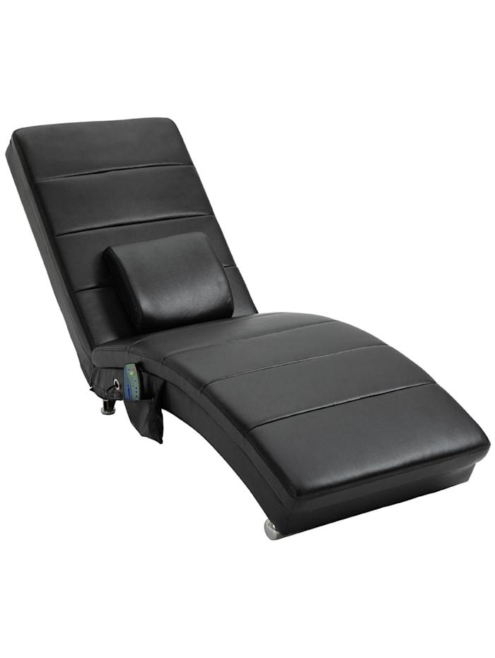 Fernsehsessel mit Massage- und Heizfunktion HOMCOM schwarz