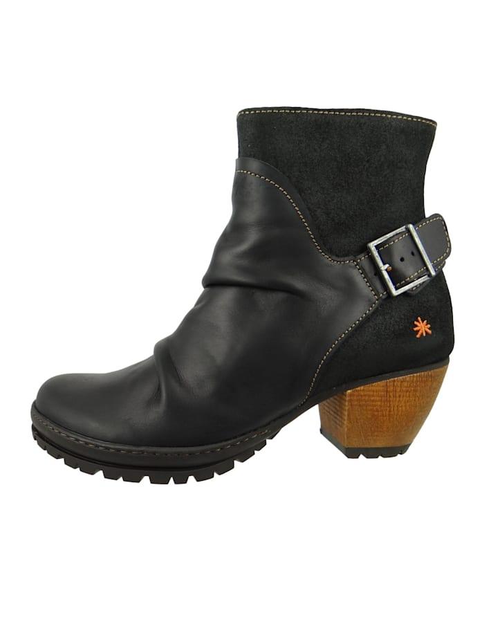 *art - Leder Stiefelette Ankle Boot Oslo Black Schwarz 0516  Black