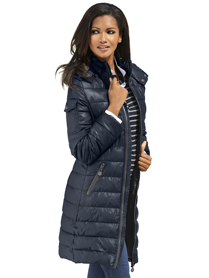 Gewatteerde jas Alba Moda Donkerblauw