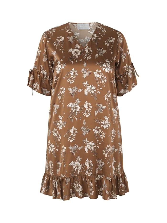 inan isik - Seidenkleid Rosa Dress  braun