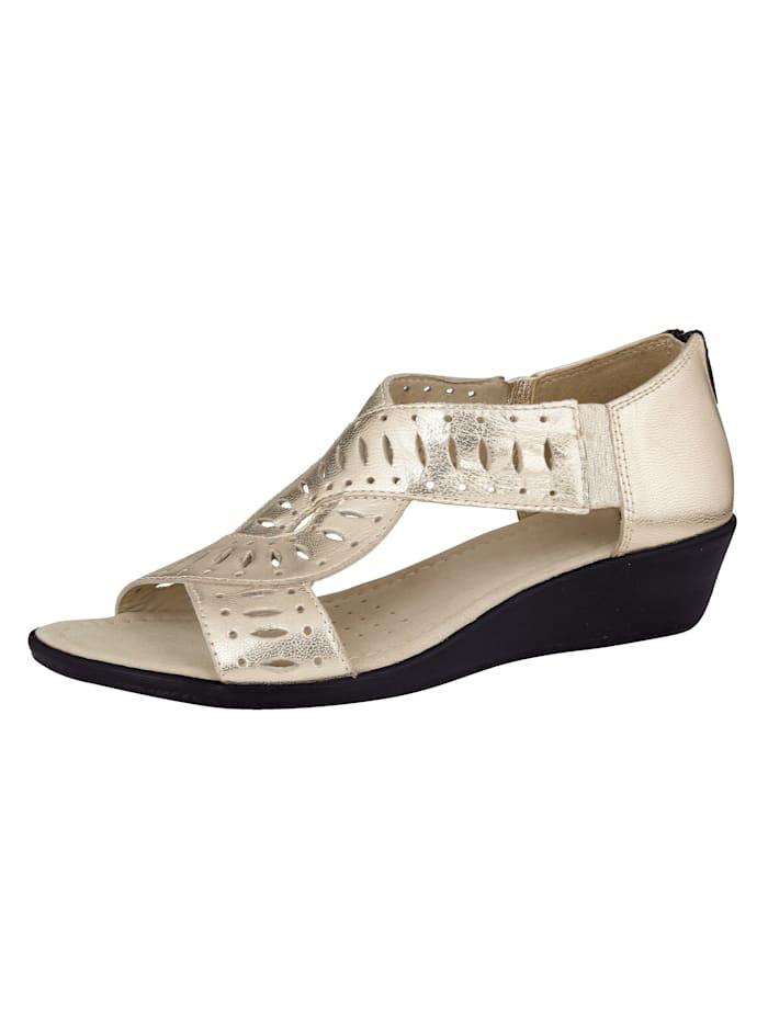 Sandalette Caprice Goldfarben
