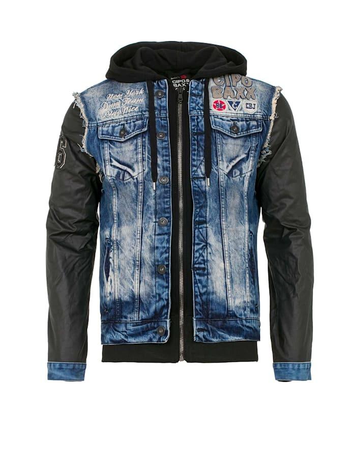 cipo & baxx - Jeansjacke im trendigen 2in1-Design  Blue