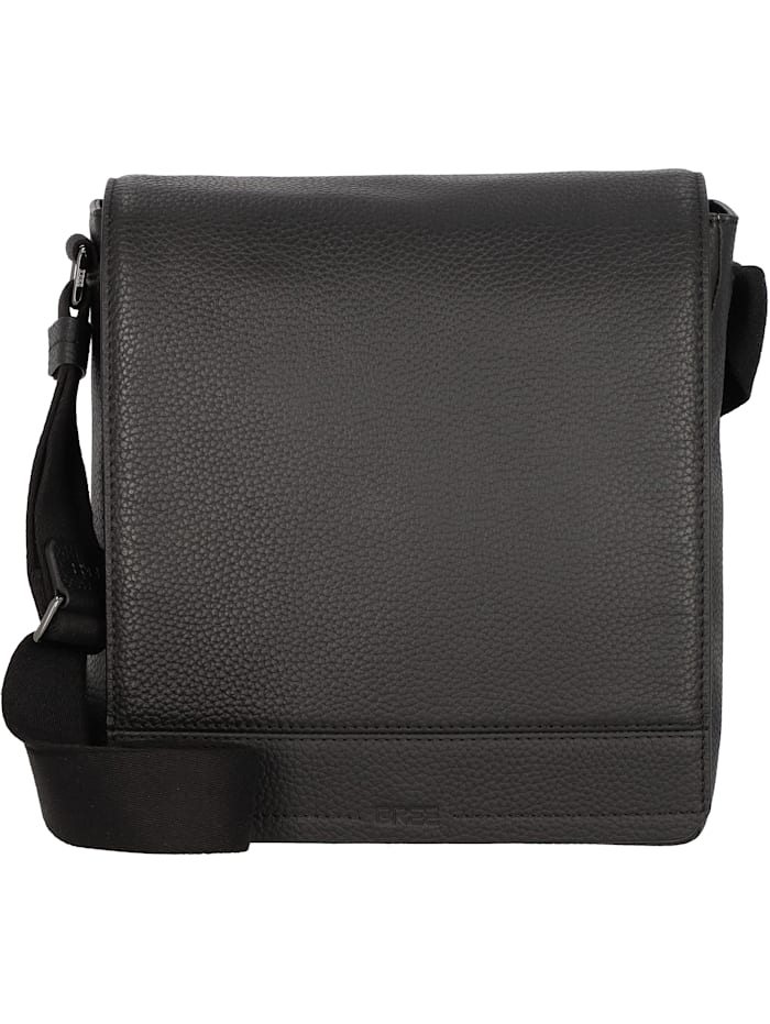 bree - Aiko 1 Umhängetasche Leder 26 cm Tabletfach  black