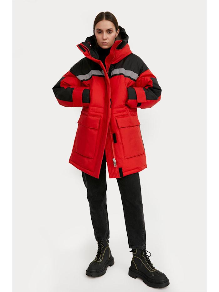 finn flare - Wintermantel mit aufgesetzten Taschen  red