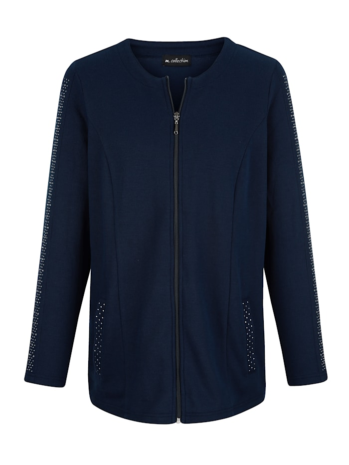 m. collection - Sweatjacke  Marineblau