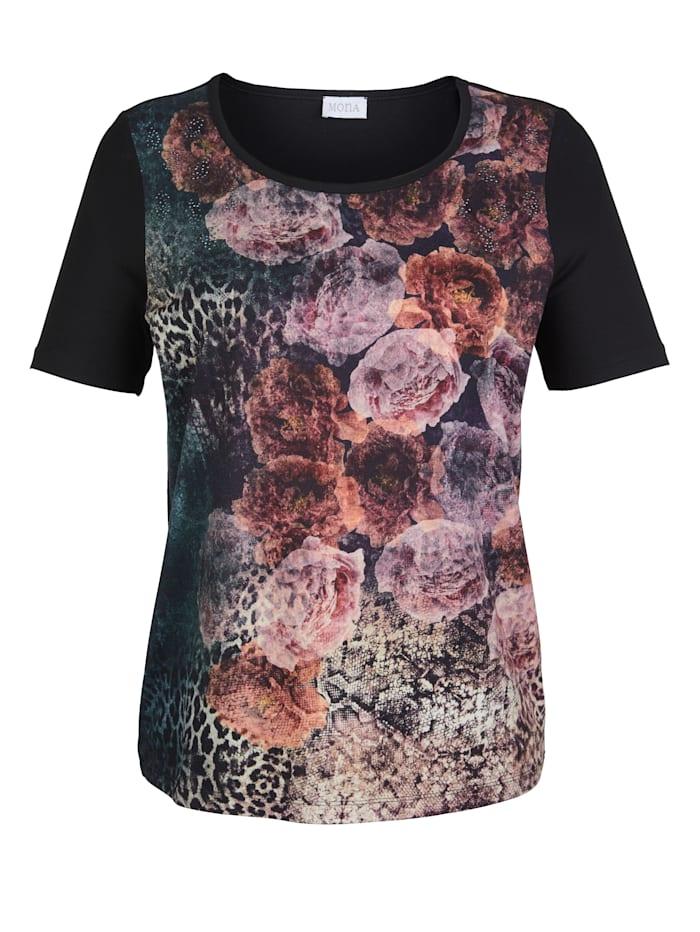 Shirt MONA Zwart::Berry::Roze
