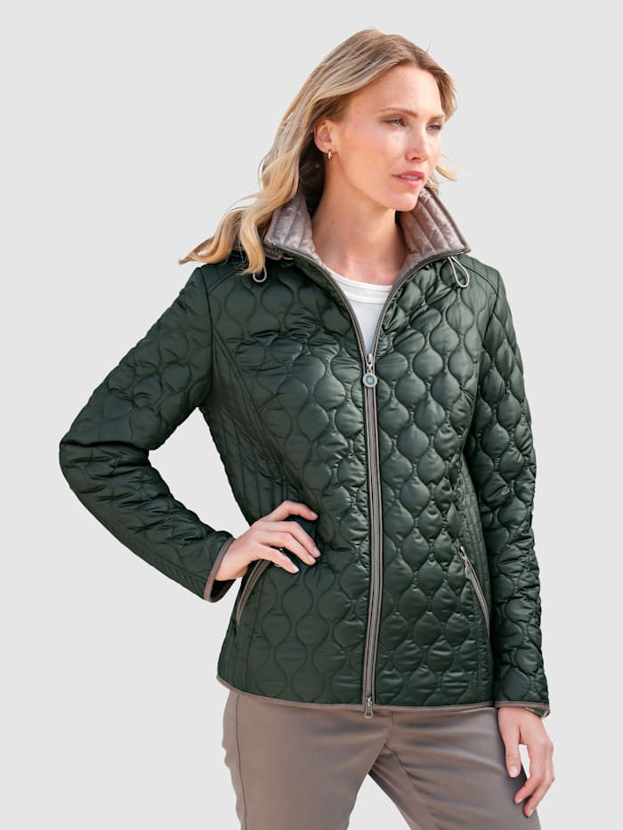 Gewatteerde jas Barbara Lebek groen
