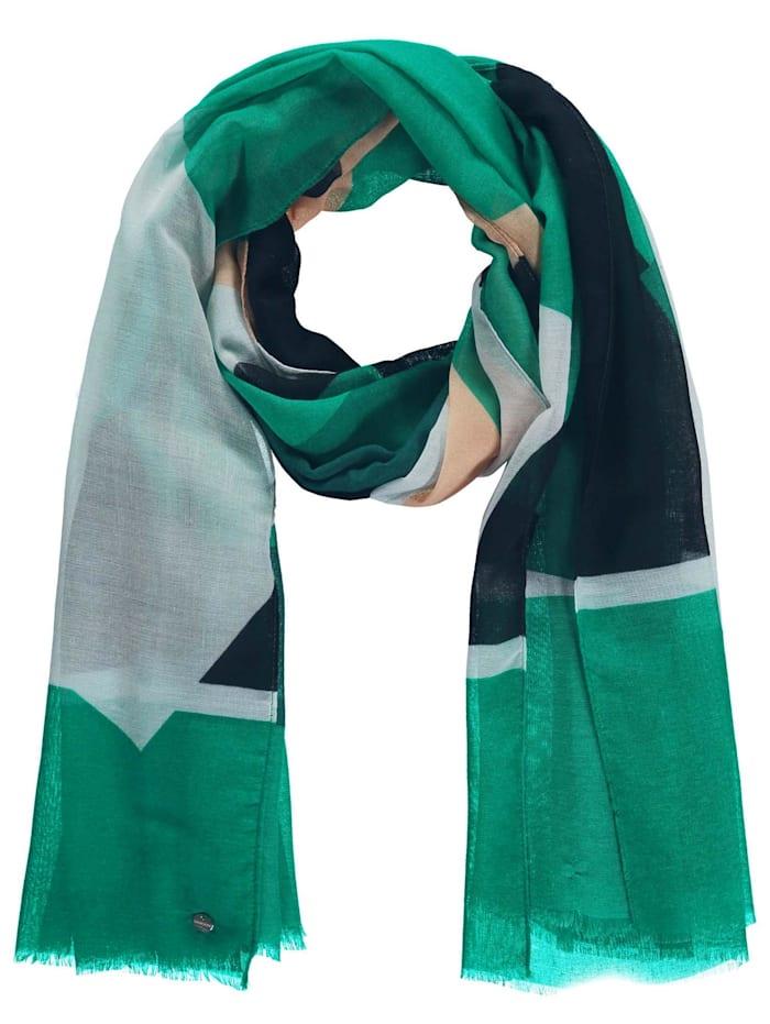 samoon - Leichter Schal mit Karo-Print  Electric Green gemustert