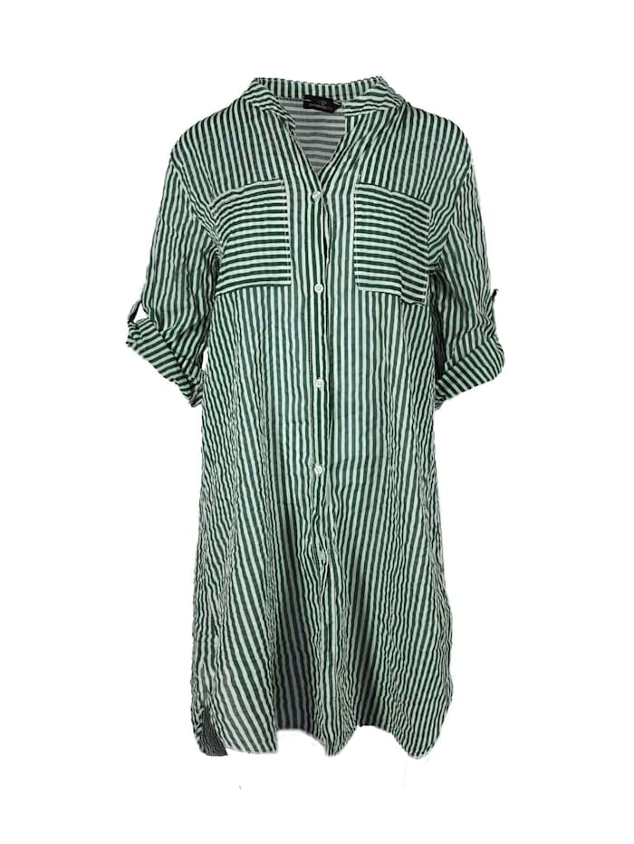 zwillingsherz - Hemdblusenkleid Longbluse Kida  khaki