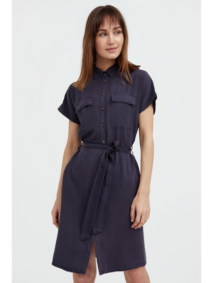 finn flare - Jeanskleid mit Gürtel  dark grey