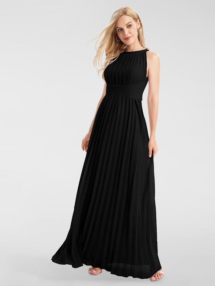 apart - Abendkleid aus plissiertem Chiffon  schwarz