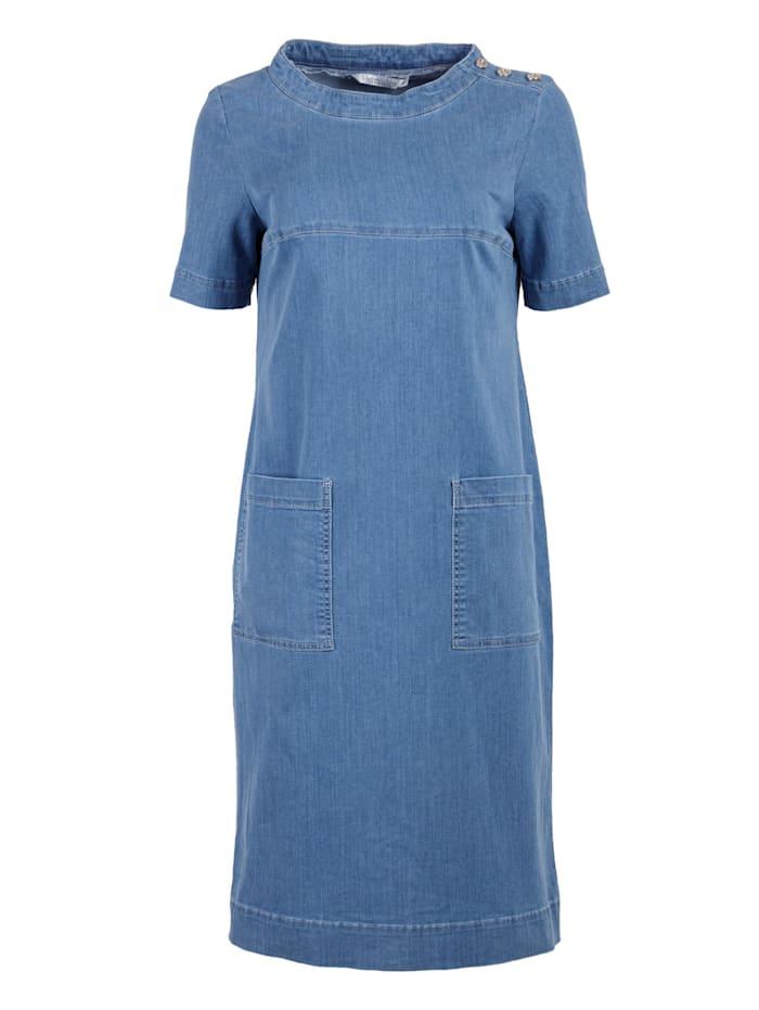 helmidge - Jeanskleid Midikleid  blau