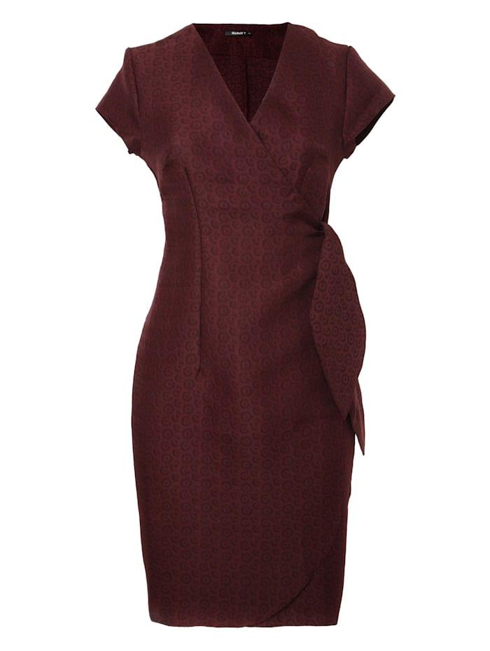 madam-t - Alltagskleid Kleid Klimana  dunkel-weinrot