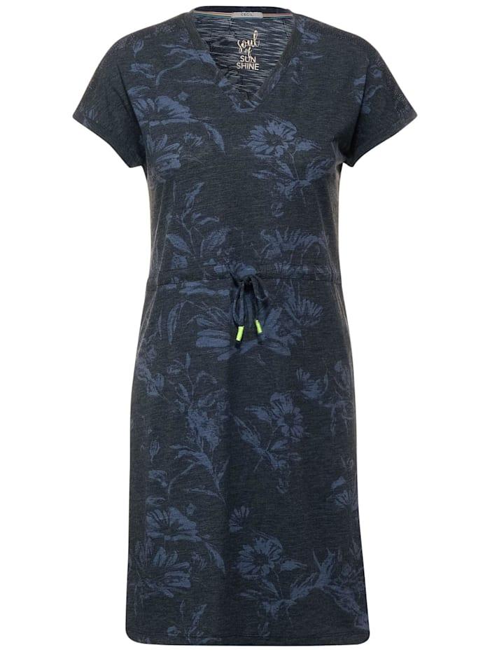 cecil - Kleid mit Blumen Print  deep blue