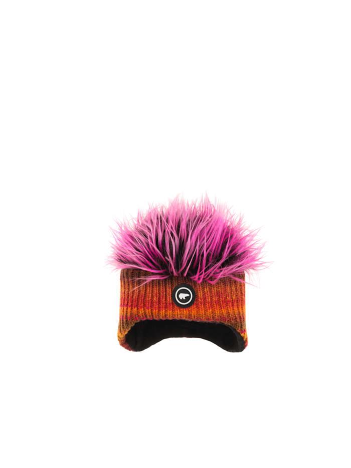 eisbär - Lustige, freche Ohrenmütze für Kinder   Orangepink/Pink