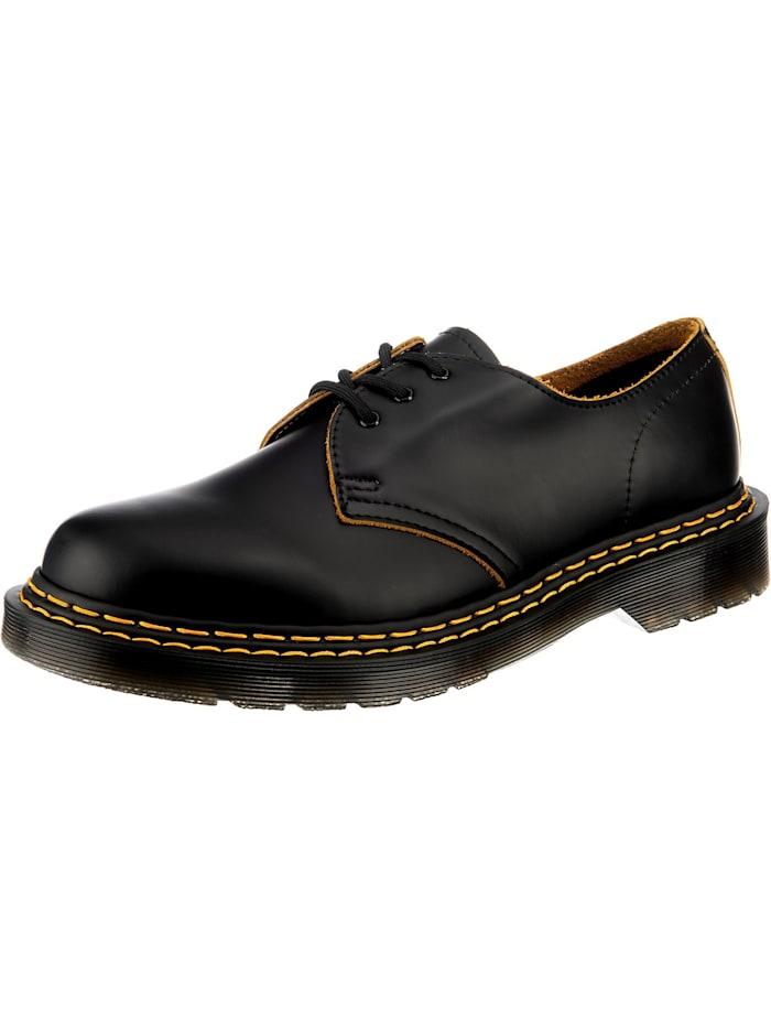 dr. martens - 1461 Double Stitch Leather Shoes Klassische Halbschuhe  schwarz