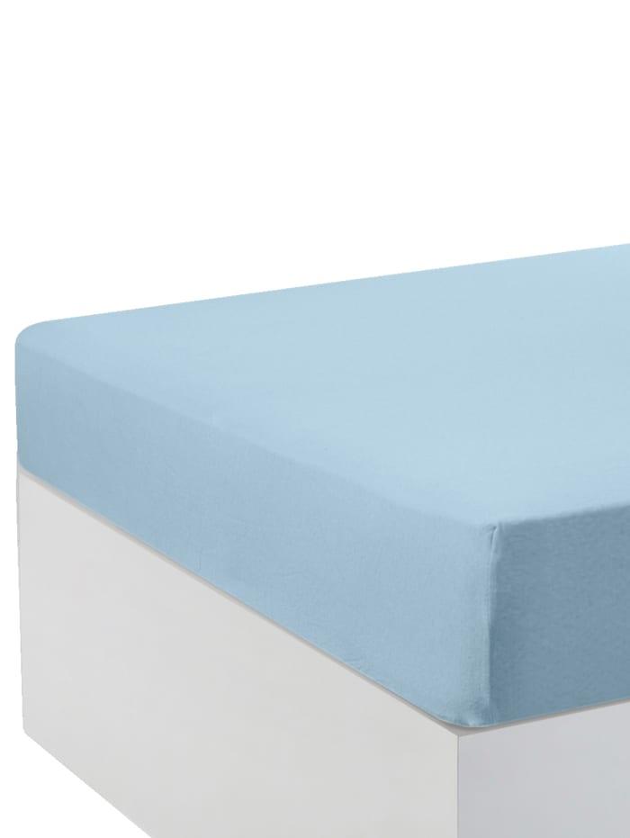 Hoeslakens per 2 stuks Webschatz lichtblauw