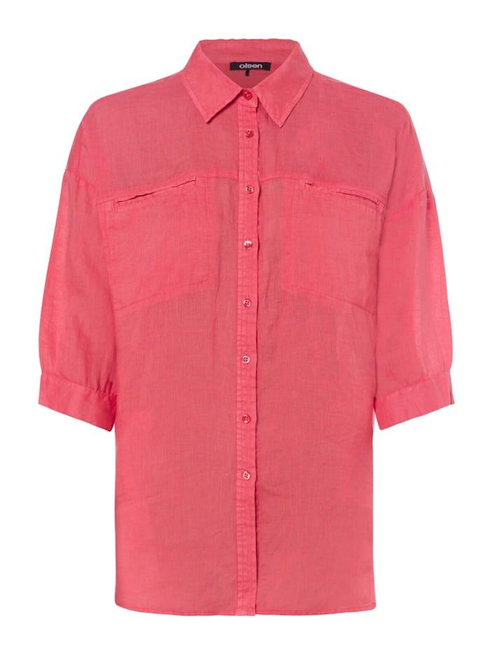 Klassische Bluse mit Brusttaschen Olsen Coral