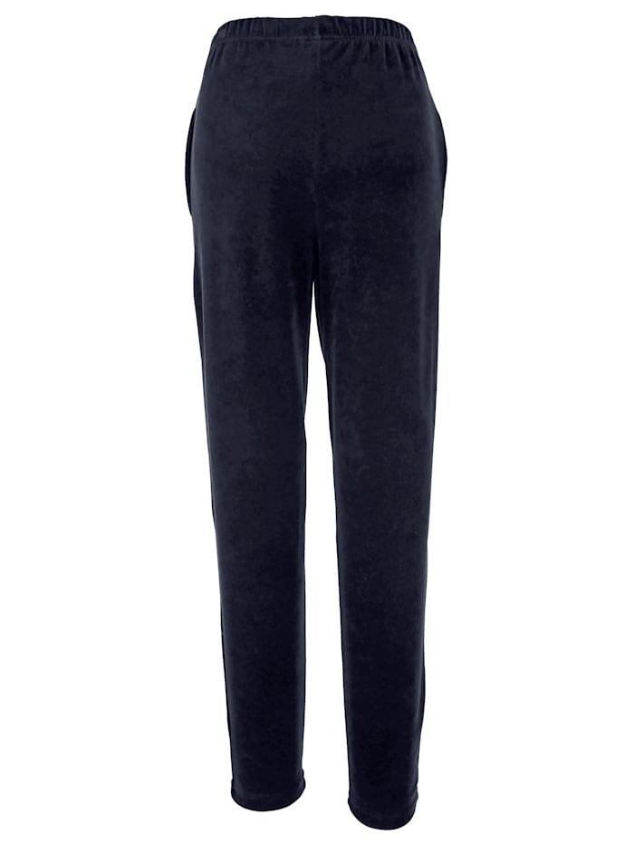 Velours broek Harmony Blauw