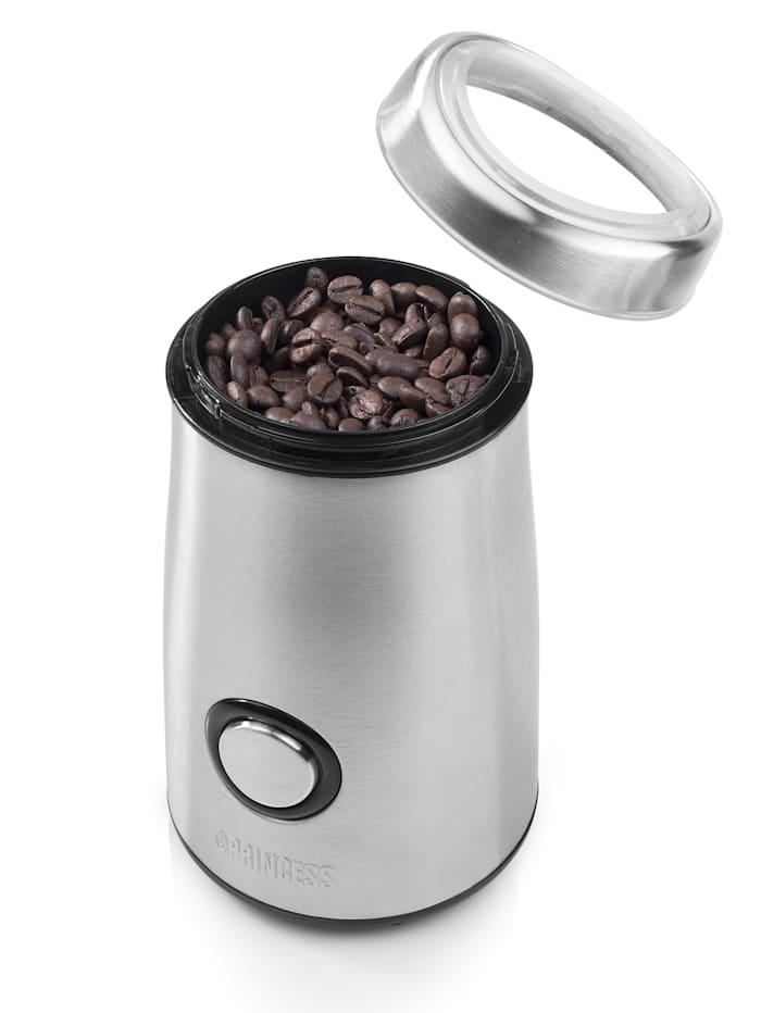 Koffiemolen van roestvrij staal Princess zilverkleur