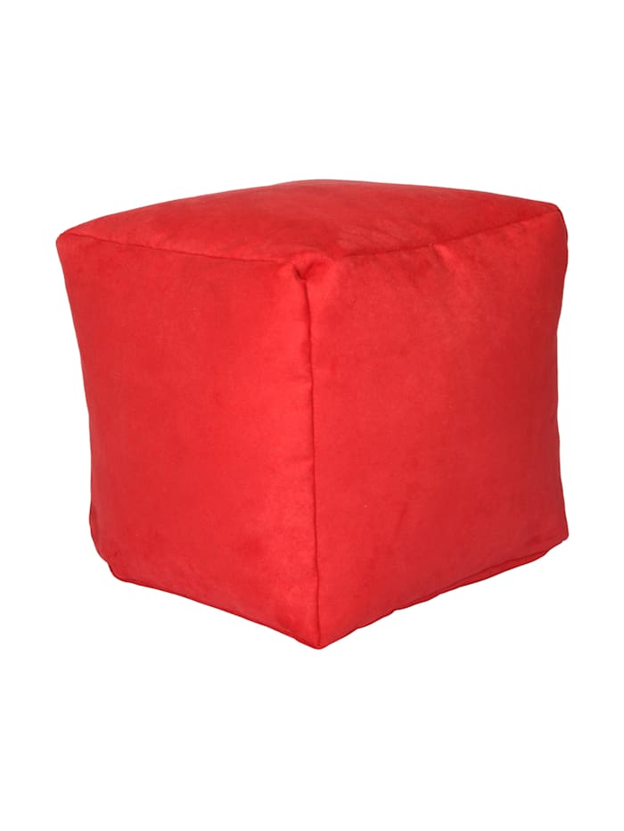 Sitzwürfel Hocker Würfelhocker Einzelhocker uni 40x40x40 cm Linke Licardo rot