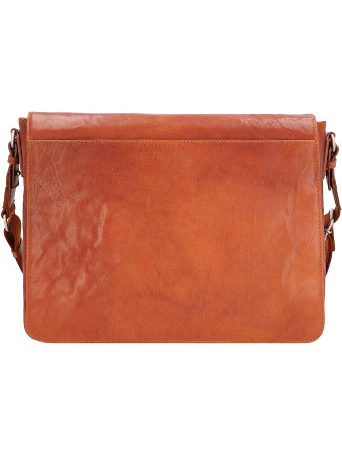 leonhard heyden - Austin Messenger Leder 38 cm Laptopfach  cognac