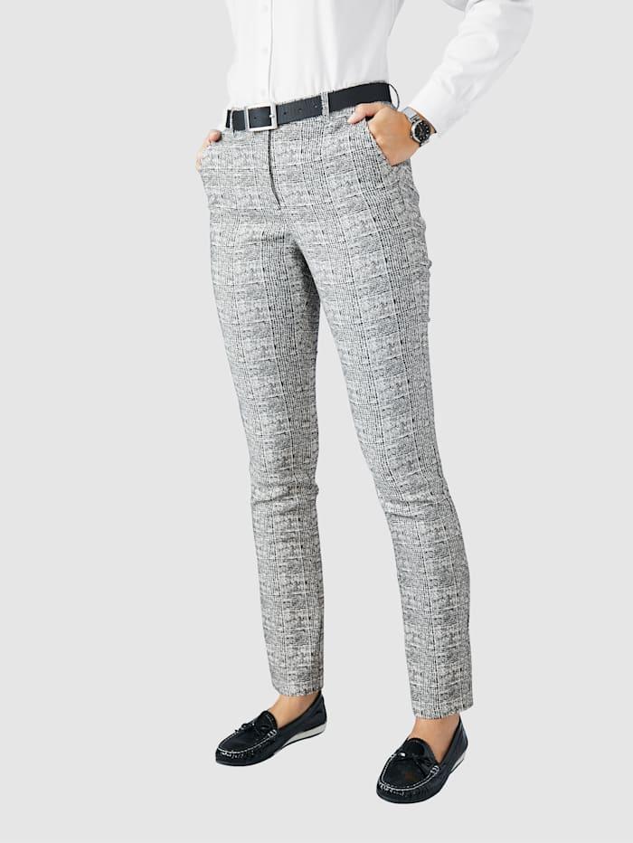 Pantalon Paola Écru::Noir