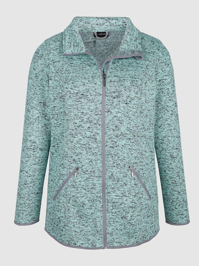 Fleece vest m. collection Mint::Grijs