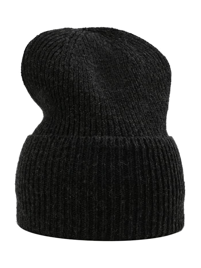 sätila of sweden - Strickmütze Klintås mit breitem Umschlag  dark grey