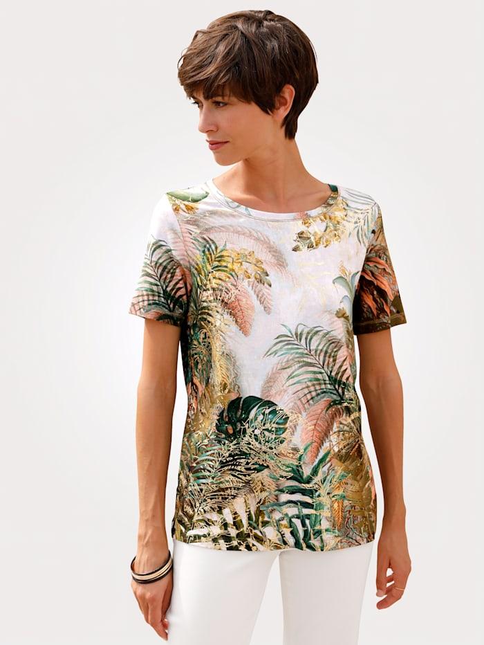T-shirt en jersey delmod Kaki::Olive