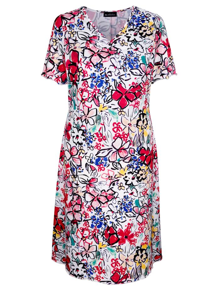m. collection - Kleid  Weiß::Pink::Royalblau