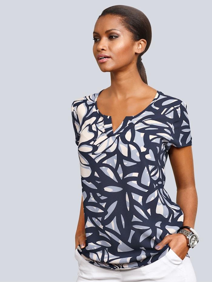 Shirt Alba Moda Blauw::Crème