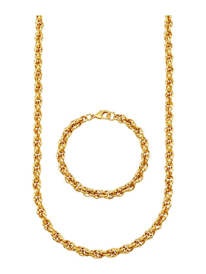 2-delige sieradenset Golden Style Geelgoudkleur