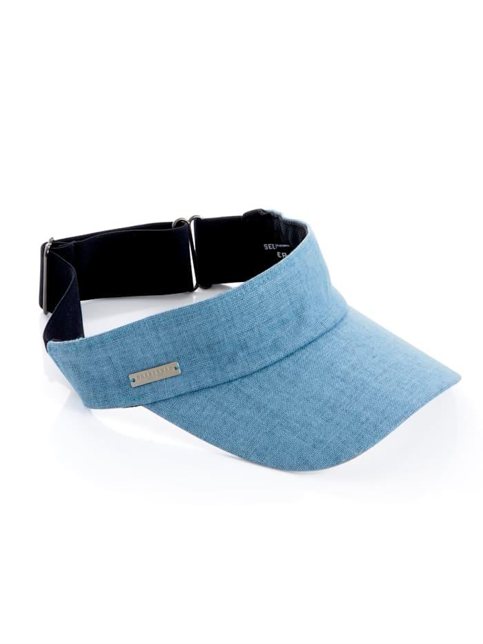 Zonneklep Seeberger blauw