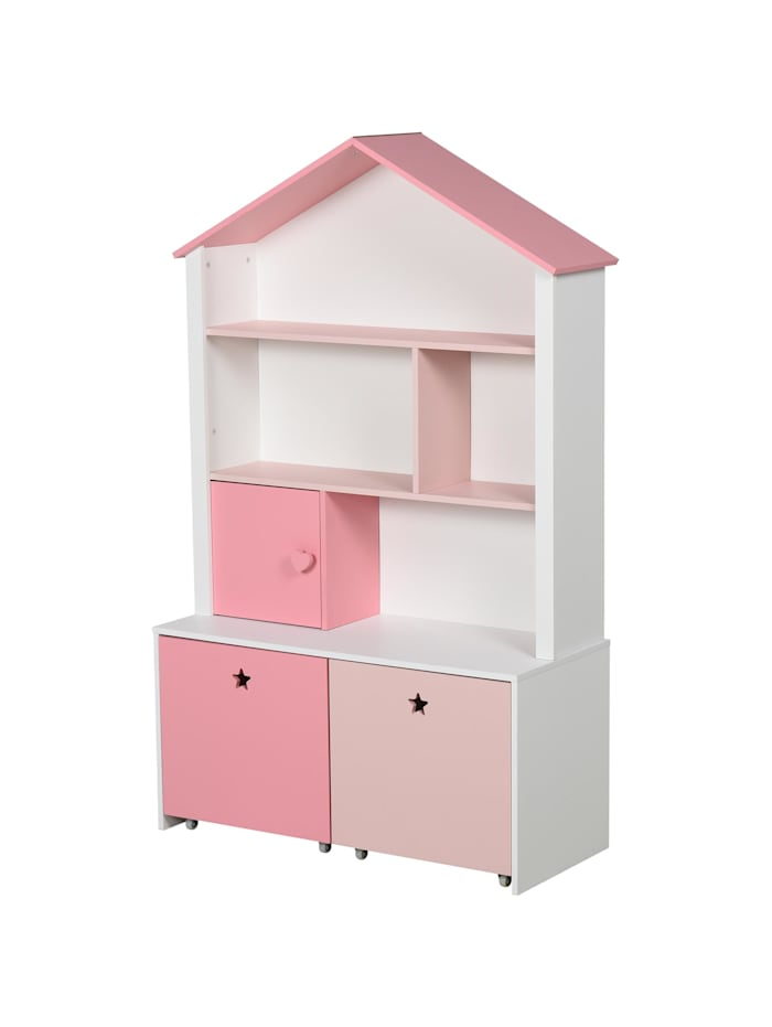 Kinderregal mit Schubladen HOMCOM rosa