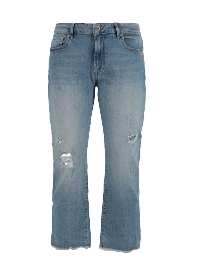 miracle of denim - Vera Wide Leg Hose  Kasan Blue