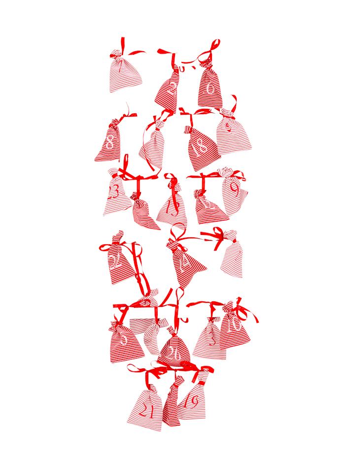 Image of Adventskalender-Set mit Leiter IMPRESSIONEN living Weiß::Rot