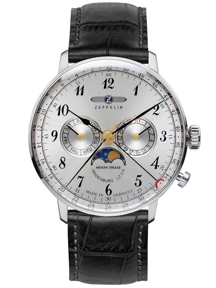 zeppelin - Armbanduhr LZ127 Hindenburg Mondphase 7036  silber