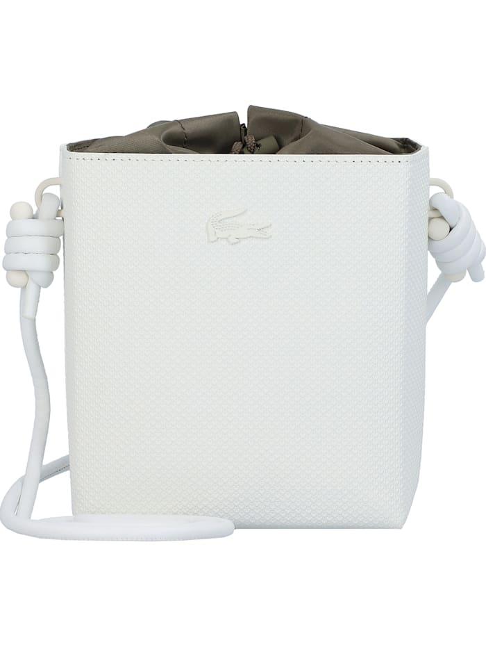 lacoste - Chantaco Beuteltasche Leder 14,5 cm  farine