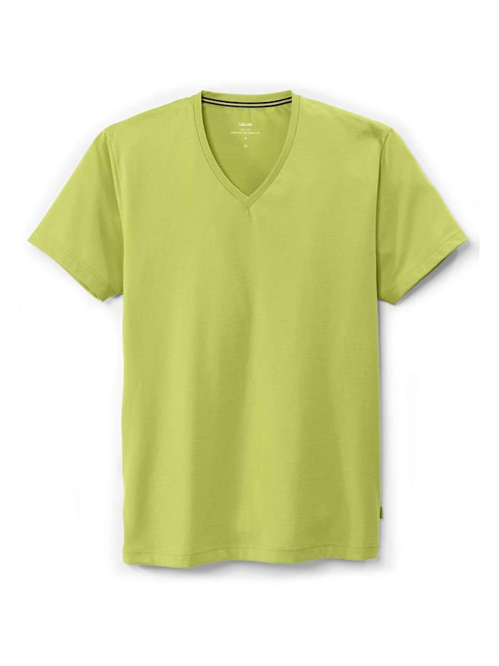 calida - T-Shirt, V-Neck  bright lime