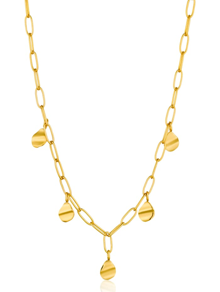 ania haie -  Damen-Kette Crush Square Necklace 925er Silber  gold